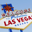 Las Vegas Welcome Road Sign — Foto de Stock