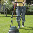 WomMowing Lawn — Stock Photo #33836391