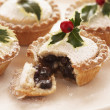Stock Photo: Decorated mince pies