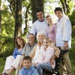 Family posing for portrait — Stock Photo
