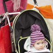 Baby on Shopping Trip — Stock Photo