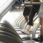 People Running on Treadmills — Stock Photo