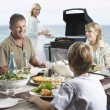 Family eating Barbecue — Stock Photo