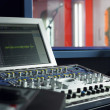 Stock Photo: Monitor in recording studio