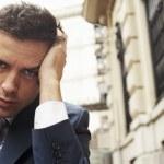 Pensive Businessman — Stock Photo