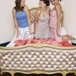 Teenage Girls at Slumber Party — Stock Photo #33839275