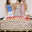 Teenage Girls at Slumber Party — Stock Photo