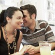 Couple at cafe — Stock Photo #33839661