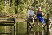Couple at Lake — Stock Photo