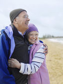 Senior couple embracing outdoors — Stock Photo