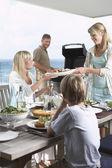 Family Having Barbecue — Stock Photo