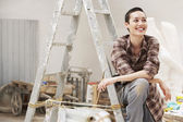 Female interior decorator — Stock Photo