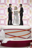Figurines on Wedding Cake — Stok fotoğraf