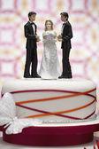 Figurines on Wedding Cake — Stock Photo