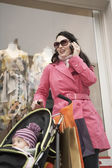 Stylish Mother Shopping — Stockfoto