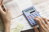 Expenses being calculated — Stock Photo