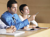 Businesspeople at Panel Presentation — Stock Photo
