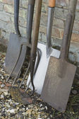 Garden Shovels and Tools — Stock Photo