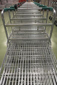 Empty Shopping Carts — Stock Photo