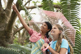 Girls in Rainforest — Stock Photo