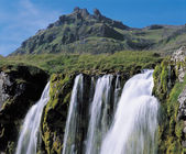 Waterfall in Mountainous Area — Stock Photo