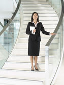 Confident Businesswomen on stairs — Stock Photo