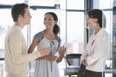 Three office workers — Stock Photo