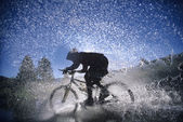 Mountain Bicyclist — Stock Photo