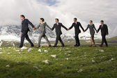 Business People Holding Hands — Stock Photo