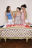 Teenage Girls at Slumber Party — Stock Photo