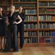 Stock Photo: Lawyers in library standing