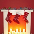 Christmas stockings — Stock Photo #33840765