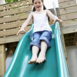 Little going down slide — Stockfoto #33840907