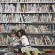 Stock Photo: Boy and Girl with Picture Books