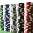Stacks of Gambling Chips — Stok fotoğraf