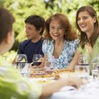 Family having meal — Stock Photo