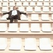 BusinessmRelaxing in Auditorium — Stock Photo #33842853