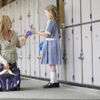 Mother Picking Up Daughter From School — Stock Photo