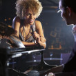 Stock Photo: Jazz singer and pianist