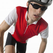 Stock Photo: Bicyclist riding bicycle