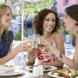 Three Friends at Cafe — Stock Photo #33845159