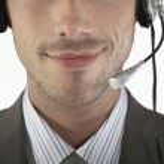 Businessman wearing headset — Stock Photo #33845483