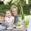 Family having picnic — Stockfoto #33845907