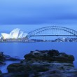 Sydney Harbor Bridge and Opera House — Stock Photo
