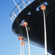 Ropes hanging from ship's bow — Stock Photo #33846189