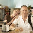 Couple in bar — Stock Photo