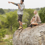 Man and woman  looking at view — Stock Photo #33846319