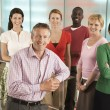 Stock Photo: Office Workers Posing