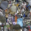 Pile of tin cans — Stock Photo