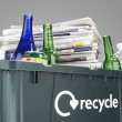Recycling bin filled with waste paper — Stock Photo #33848257